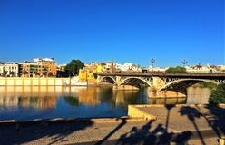 Севилья, Испания - мост Triana стоковое изображение rf