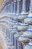 Севилья - керамическая балюстрада площади de Espana Стоковые Изображения RF