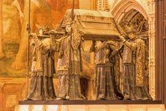 Севилья - усыпальница Christopher Columbus Arturo Melida y Alinari (1891) в соборе de Santa Maria de Ла Sede Стоковое Изображение RF