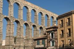 Сеговия Испания: Римский мост-водовод Стоковое фото RF