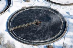 седиментирование формы дренажа круглое Стоковое Изображение RF