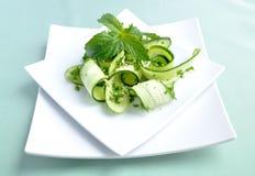 сезам салата зеленых цветов огурца Стоковое фото RF