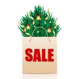 Сезонная продажа рождества иллюстрация штока