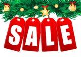 Сезонная продажа рождества Стоковые Фотографии RF