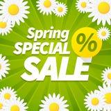 Сезонная специальная предпосылка дела продаж весны Стоковое фото RF