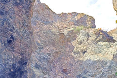 Сезонно сухой водопад стоковые фото