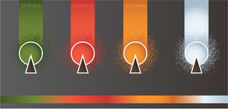 Сезонные знамена с много космосом для вашего текста Стоковое Изображение RF