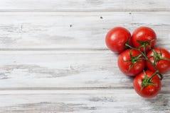Сезонные овощи, томаты вишни на ветви Стоковые Изображения
