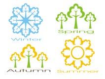 сезоны иконы установили Стоковая Фотография RF