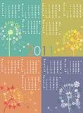 сезоны одуванчика календара Стоковые Фото