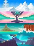 Сезон ландшафта установленный Стоковое Изображение