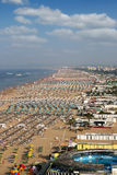 Сезон лета Адриатического моря Римини пляжа Стоковые Изображения