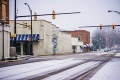 Сезон зимы в Йорке Южной Каролине стоковая фотография rf