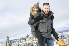 Сезон зимы 2 друзей Стоковое фото RF