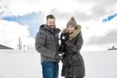 Сезон зимы 2 друзей Стоковые Изображения RF