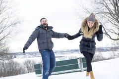 Сезон зимы 2 друзей Стоковые Фото
