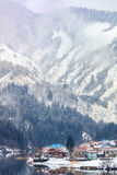 Сезон зимы снега в Mishima стоковые фото