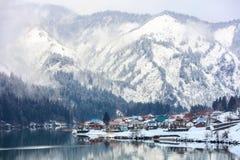 Сезон зимы снега в Mishima стоковые изображения rf