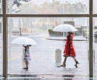 Сезон муссона в Сингапуре стоковые фотографии rf
