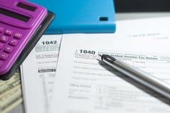 Сезон налога стоковое фото