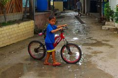 Сезон дождей пляжа Panagsama Стоковые Изображения