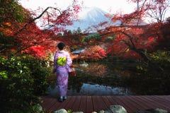 Сезон осени в Японии стоковые фото