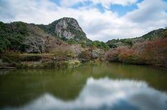 Сезон осени сада Mifuneyama Rakuen в саге, Японии стоковое изображение rf