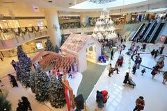 сезон украшение рождества торгового центра стоковые фотографии rf