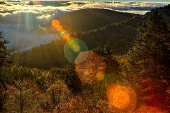 Сезон Autumng в закоптелых горах Стоковое Фото