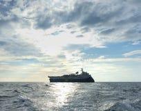 Сейсмический обзор корабля сосуда для исследования нефти и газ Стоковая Фотография
