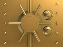 сейф банка золотистый Стоковые Фото