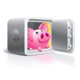 сейф банка piggy Стоковое Изображение