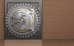 сейф двери банка 3d иллюстрация вектора
