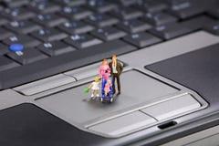 сейф интернета семьи Стоковые Фото
