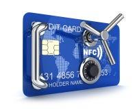 Сейф кредитной карточки Стоковое фото RF