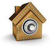 сейф дома золота Стоковое Изображение RF