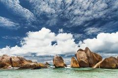 Сейшельские острова Пляж пустыни Стоковые Фотографии RF