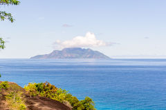 Сейшельские островы - остров силуэта Стоковые Изображения