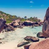 Сейшельские островы, остров Digue Ла Стоковые Изображения RF