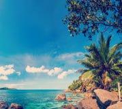 Сейшельские островы, остров Digue Ла Стоковое Фото