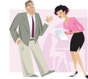 секретарша босса бесплатная иллюстрация