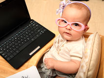 Секретарша младенца Стоковое Изображение