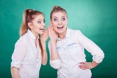 2 секрета долей подростков, сплетня Стоковые Изображения RF