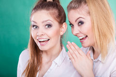2 секрета долей подростков, сплетня Стоковые Изображения