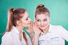 2 секрета долей подростков, сплетня Стоковые Фотографии RF