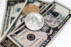 Секретная валюта на заднем плане долларов Стоковые Изображения RF