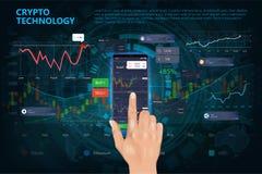 Секретная онлайн коммерция Технология bitcoin минирования бесплатная иллюстрация