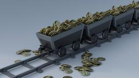 секретное минирование валюты Стоковое Фото