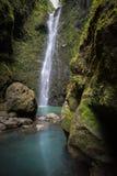 Секретный гаваиский водопад глубоко в джунглях Мауи стоковые изображения rf