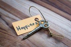 Секретный ключ на счастливая жизнь Стоковые Изображения RF